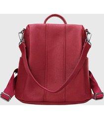 mochila mujer casual roja millam