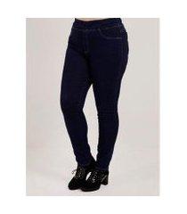 calça jegging jeans plus size feminina