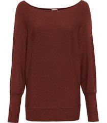 maglione con ampio scollo a barca (marrone) - bodyflirt