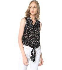 blusa negro-multicolor active