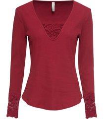 maglia a costine con pizzo (rosso) - bodyflirt boutique