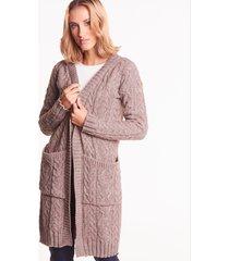 długi sweter warkocz malena