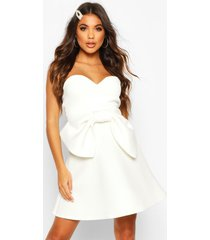 bandeau bow skater dress, ivory