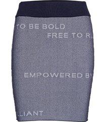 w jaquard skirt kort kjol blå peak performance