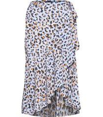 skirt serena knälång kjol blå lindex