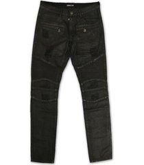 embellish nyc testarossa biker denim jeans black wax