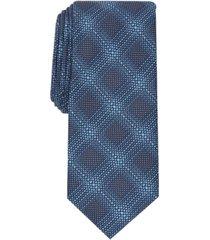 alfani men's lumsden plaid slim tie, created for macy's