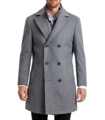 chaps men's classic double breasted overcoat