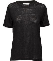 agnes tee 6680 t-shirts & tops short-sleeved zwart samsøe & samsøe