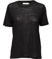 agnes tee 6680 t-shirts & tops short-sleeved zwart samsøe samsøe