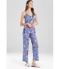 flora- the siesta pajamas set, women's, blue, size l, josie
