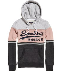 buzo para mujer vintage logo high build emb entry hood superdry