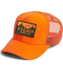 filson logger mesh cap | blaze | 11030237-blz