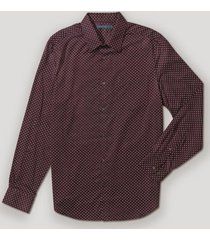 camisa casual estampada burdeo perry ellis