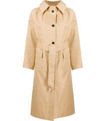 kassl editions tie-waist trench coat - neutrals