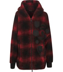 dsquared2 check zip hoodie