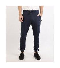 calça masculina básica jogger azul marinho