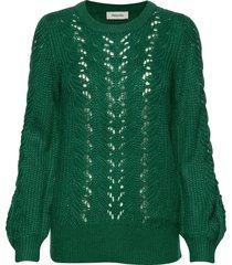 sophus o-neck stickad tröja grön modström