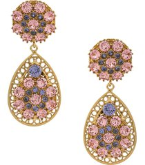 dolce & gabbana crystal detailed statement earrings - pink