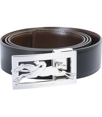 longchamp belt with buckle and logo