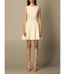 elisabetta franchi dress elisabetta franchi short dress with all-over micro studs