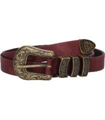 cinturón cuero estilo vaquero burdeo zappa