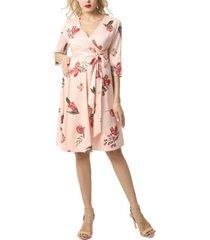 kimi + kai althea faux wrap maternity nursing dress