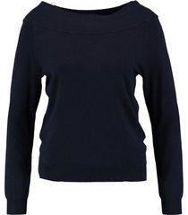 vero moda korte zachte donkerblauwe trui