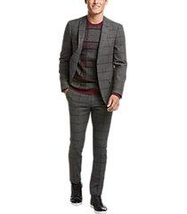 paisley & gray skinny fit suit separates coat gray windowpane plaid