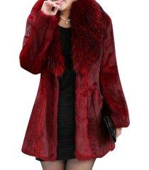 cappotti di pelliccia sintetica allentati casuali di colore solido