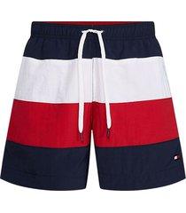 tommy hilfiger zwembroek drawstring - blauw/rood/wit