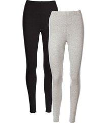 leggings elasticizzati (pacco da 2) (grigio) - bpc bonprix collection