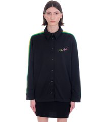 palm angels shirt in black polyester