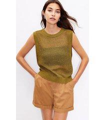 loft open stitch sweater tank