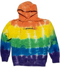 the phluid project proud rainbow tie-dyed printed fleece hoodie
