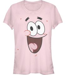 fifth sun spongebob squarepants women's patrick big face short sleeve tee shirt