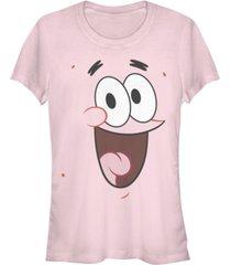 fifth sun spongebob squarepants women's patrick big face short sleeve tee shirt