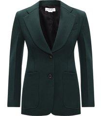 wool blazer with notch lapels