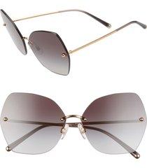 women's dolce & gabbana lucia 64mm mirrored oversize butterfly sunglasses -