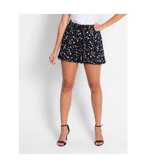 shorts feminino viscose flamê endless preto
