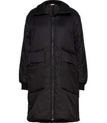 jacket gevoerde lange jas zwart sofie schnoor