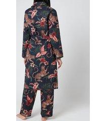 desmond & dempsey women's soleia robe - navy - l