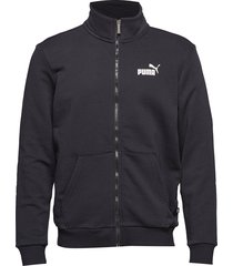 ess track jacket tr sweat-shirt tröja svart puma