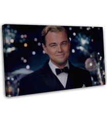 the great gatsby leonardo dicaprio movie wall decor 20x16 framed canvas print