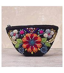 alpaca blend coin purse, 'andean shopper' (peru)