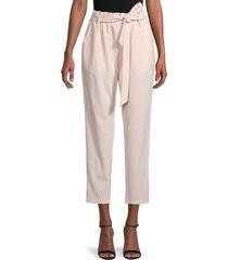 bcbgeneration women's belted ankle pants - rose - size l