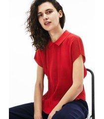camisa manga longa lacoste feminina