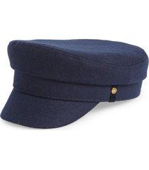 women's frye fiddler merino wool cap, size small/medium - blue