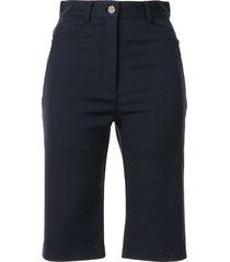 dion lee slim-fit shorts - blue