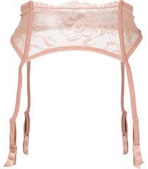 la perla brigitta suspender belt - pink
